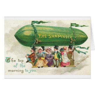 Victorian Shamrock Blimp St. Patrick's Day Card