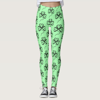 Victorian shamrock pattern leggings