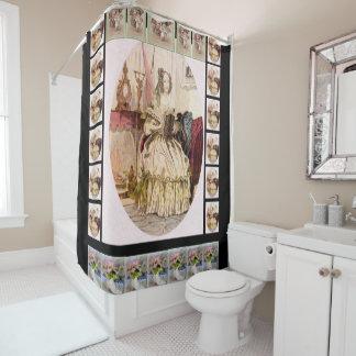 Victorian shower curtain