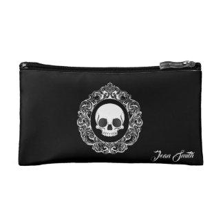 Victorian Skull Cameo Makeup Bag
