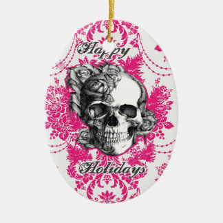Victorian Skull Products. Classic PJ. Christmas Ornament
