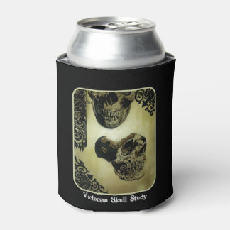'Victorian Skull Study' painting on a Can Cooler