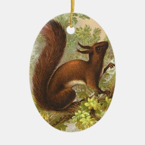 Victorian Squirrel Christmas Ornament