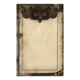 Victorian Steampunk and Gears Stationary Stationery