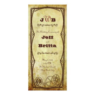 Victorian Steampunk Ceremony Program Rack Card