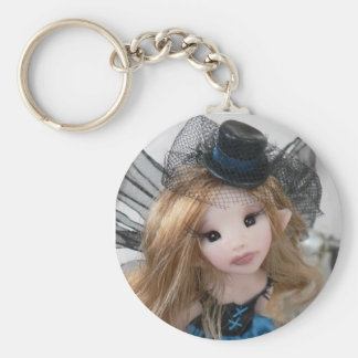 Victorian Steampunk Faery Basic Round Button Key Ring