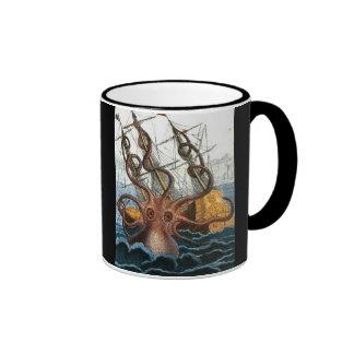 Victorian Steampunk Kraken Octopus Sea Creature Mug