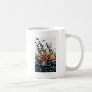 Victorian Steampunk Kraken Octopus Sea Creature Classic White Coffee Mug