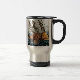 Victorian Steampunk Kraken Octopus Sea Creature 15 Oz Stainless Steel Travel Mug