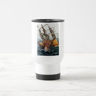 Victorian Steampunk Kraken Octopus Sea Creature Coffee Mugs
