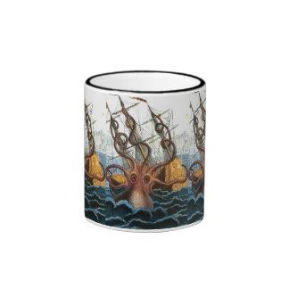Victorian Steampunk Kraken Octopus Sea Creature Mugs