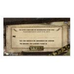 Victorian Steampunk Leather Wedding RSVP Cards