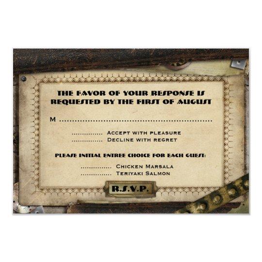 Victorian Steampunk Wedding Reception Cards