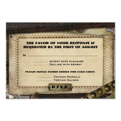Victorian Steampunk Wedding Reception Cards 9 Cm X 13 Cm Invitation Card