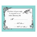 Victorian Steampunk Wedding RSVP Card Personalised Announcements