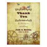 Victorian Steampunk Wedding Thank You Personalised Invitations