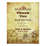 Victorian Steampunk Wedding Thank You v.2 Custom Invitations
