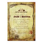 Victorian Steampunk Wedding v.2 Invitations
