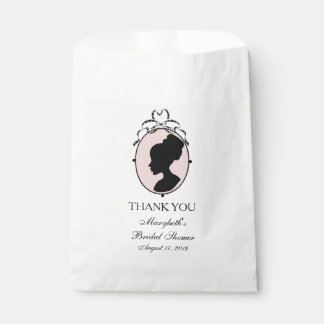 Victorian Style 60s Cameo Bridal Shower Favour Bags