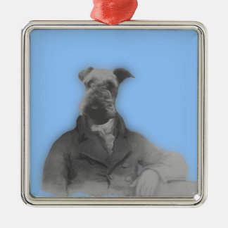 Victorian Style Airedale Gifts Christmas Ornament