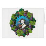 Victorian style boy in grape wreath