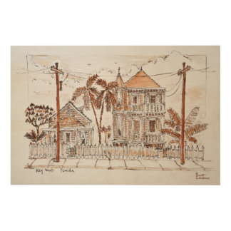 Victorian Style Conch Houses | Key West, Florida Wood Wall Decor