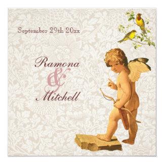 Victorian Style Cupid Wedding Card