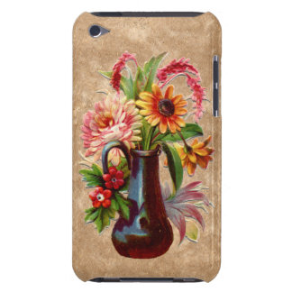 Victorian style embossed effect floral display iPod touch cases