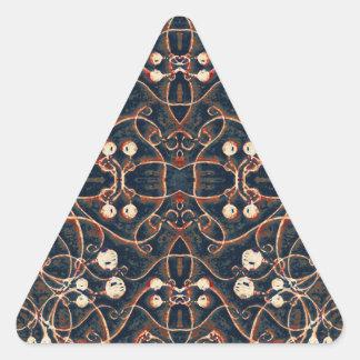 Victorian Style Grunge Pattern Triangle Stickers