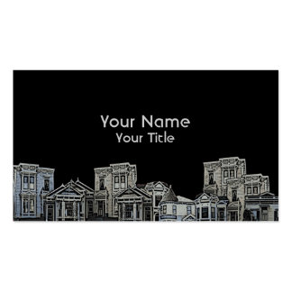 Victorian style old house real estate custom cards business cards