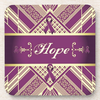 Victorian Style Pan Cancer Awareness Products Drink Coasters