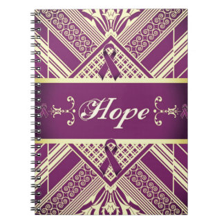 Victorian Style Pan Cancer Awareness Products. Spiral Note Books