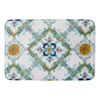Victorian Style Tile Pattern On Bath Mat