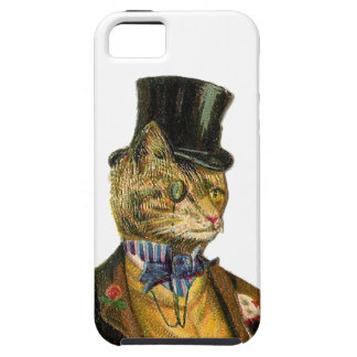 Victorian styles cat with top has case for the iPhone 5
