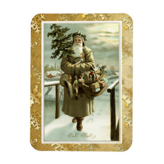 Victorian Swedish Santa Claus Post Card Art Rectangular Photo Magnet