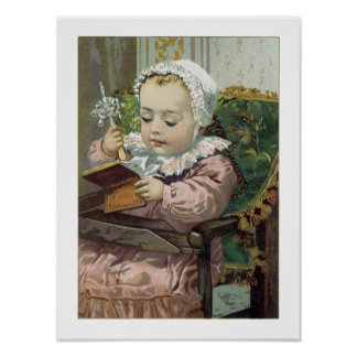 Victorian Sweet Precious Baby Art Print Poster