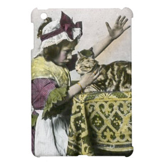 Victorian Tea Time With Kitty Tea Party Vintage iPad Mini Covers