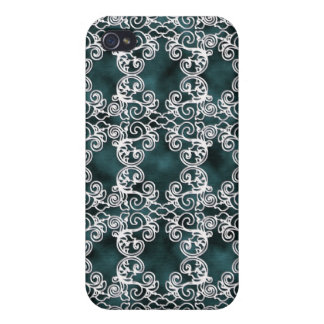 Victorian Teal-Turquoise Lace Speck Case iPhone4 iPhone 4 Covers