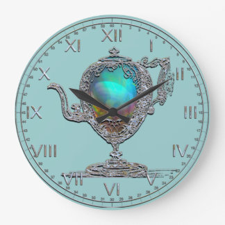 Victorian Teapot Large Clock
