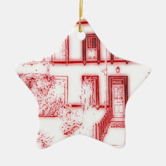 Victorian Terrace House Ceramic Star Decoration