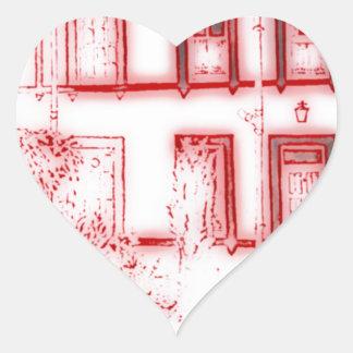 Victorian Terrace House Heart Sticker