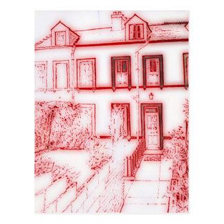 Victorian Terrace House Postcard