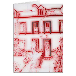 Victorian Terraced House Note Card