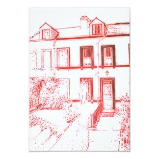 Victorian Terrance House 9 Cm X 13 Cm Invitation Card