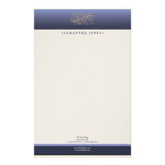 Victorian Thistle Blue Customized Stationery