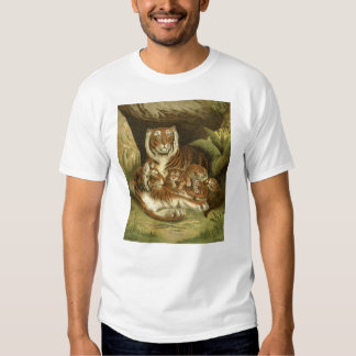 Victorian Tiger Etching T Shirt