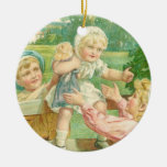 Victorian toddler christmas ornament