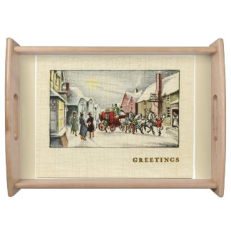 Victorian Town Christmas Serving Tray