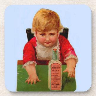 Victorian trade card: Scott's Emulsion Castor Oil Coaster