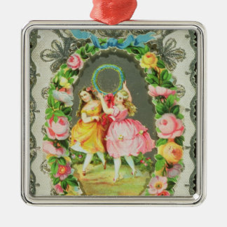 Victorian Valentine Card Christmas Ornaments